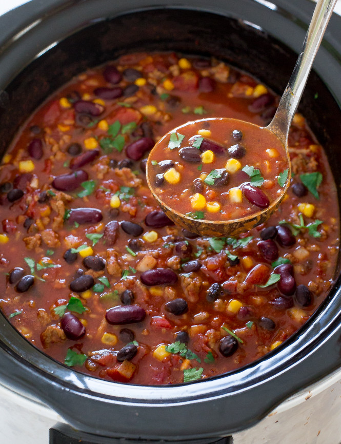 Healthy Turkey Chili Recipe Slow Cooker  turkey chili slow cooker