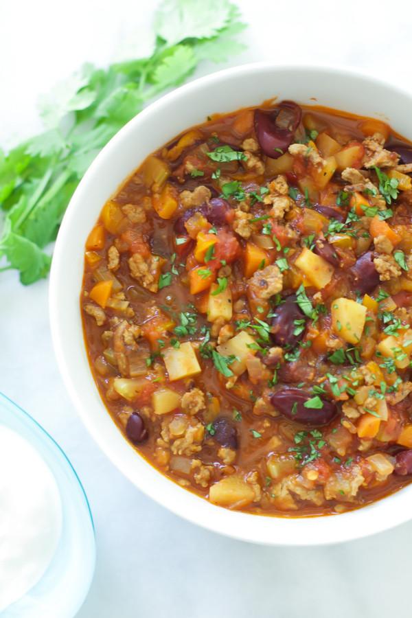 Healthy Turkey Chili Recipe  healthy turkey chili recipes