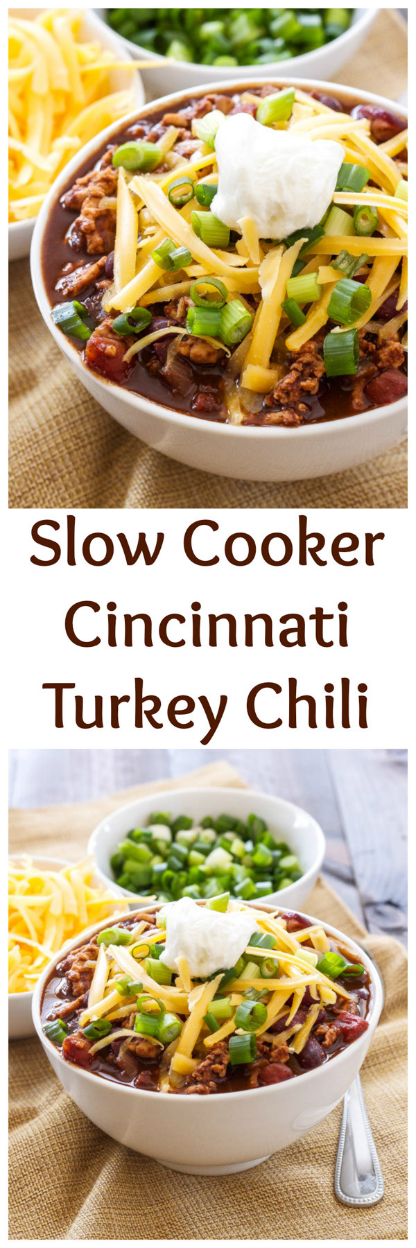 Healthy Turkey Chili Slow Cooker  Slow Cooker Cincinnati Turkey Chili Recipe Runner