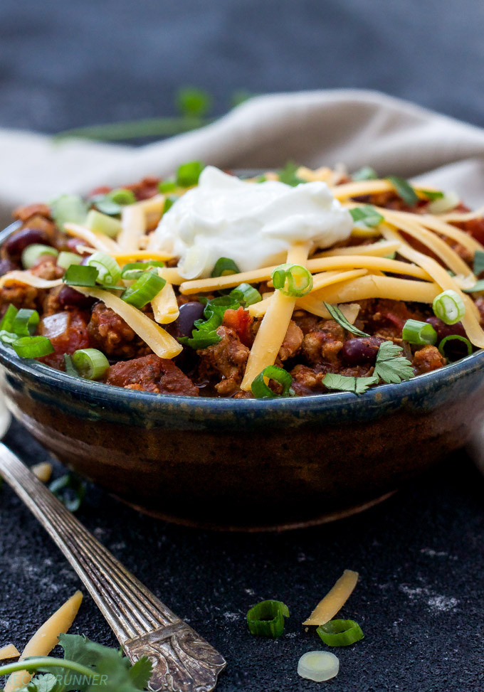Healthy Turkey Chili Slow Cooker  Healthy Slow Cooker Turkey Chili Recipe Runner