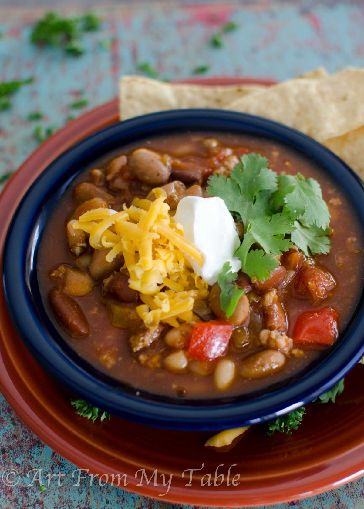 Healthy Turkey Chili  Healthy Turkey Chili Slow Cooker Art From My Table