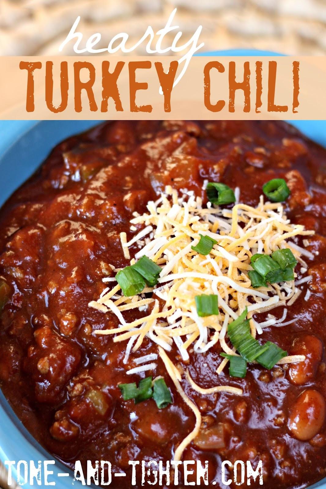 Healthy Turkey Chili  healthy turkey chili recipes
