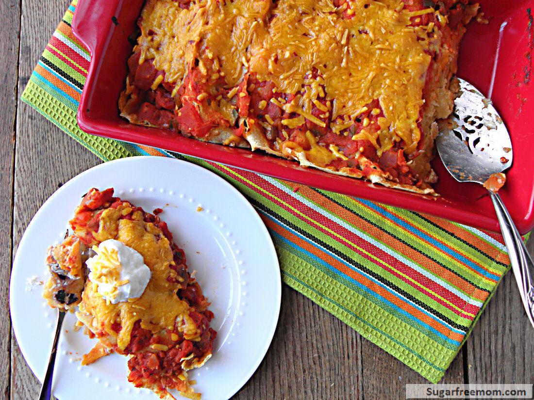 Healthy Turkey Enchiladas  Healthier Turkey Enchiladas [Gluten Free]