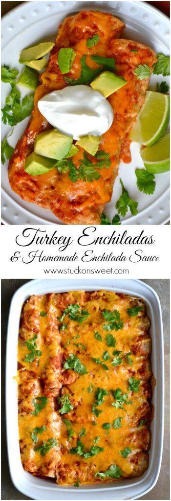 Healthy Turkey Enchiladas  17 Best ideas about Turkey Enchiladas on Pinterest
