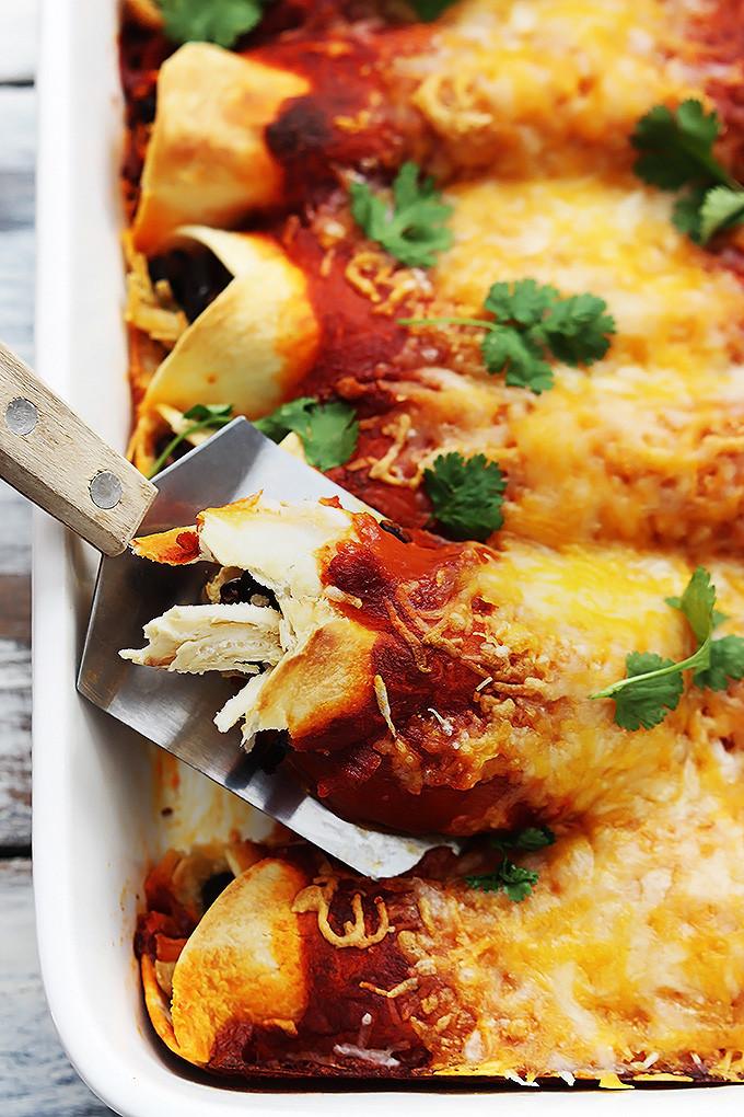 Healthy Turkey Enchiladas  turkey enchiladas