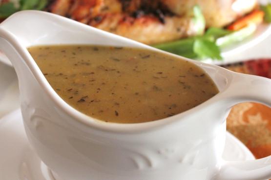 Healthy Turkey Gravy  Turkey Gravy Recipe Genius Kitchen