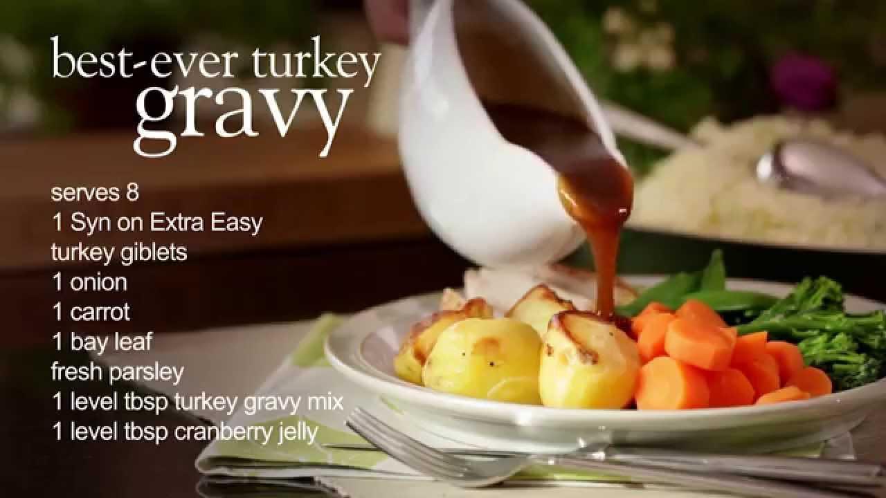 Healthy Turkey Gravy  Slimming World USA healthy Thanksgiving turkey and gravy