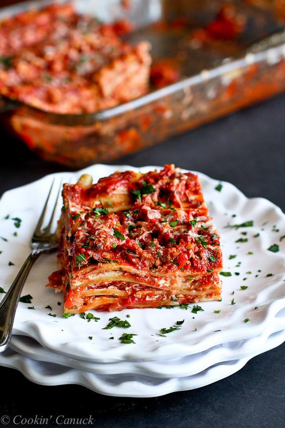 Healthy Turkey Lasagna  Best Low Fat Turkey Lasagna Recipe