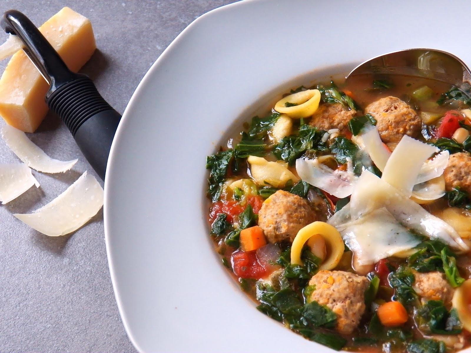 Healthy Turkey Soup  HEALTHY TURKEY MEATBALL AND KALE SOUP