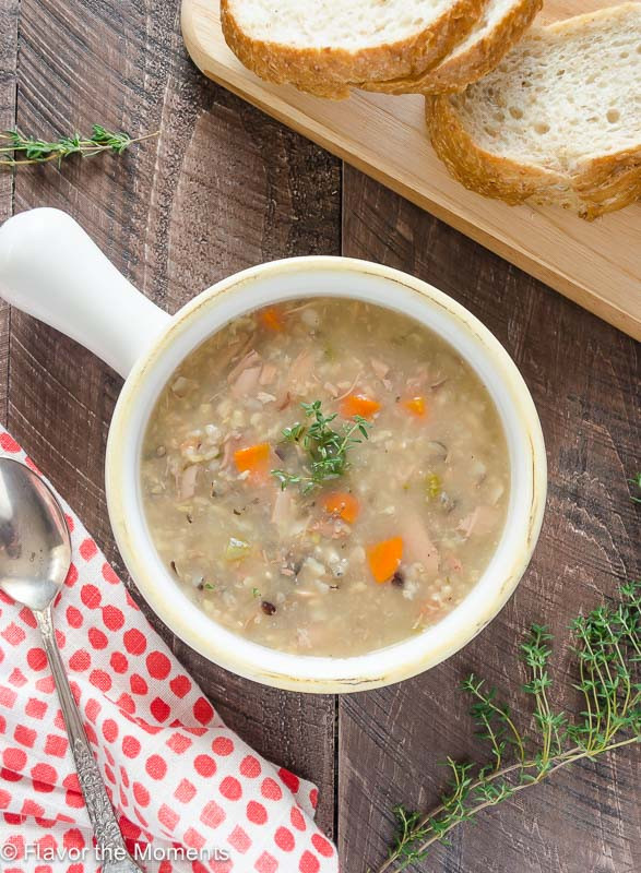 Healthy Turkey Soup  healthy turkey wild rice soup