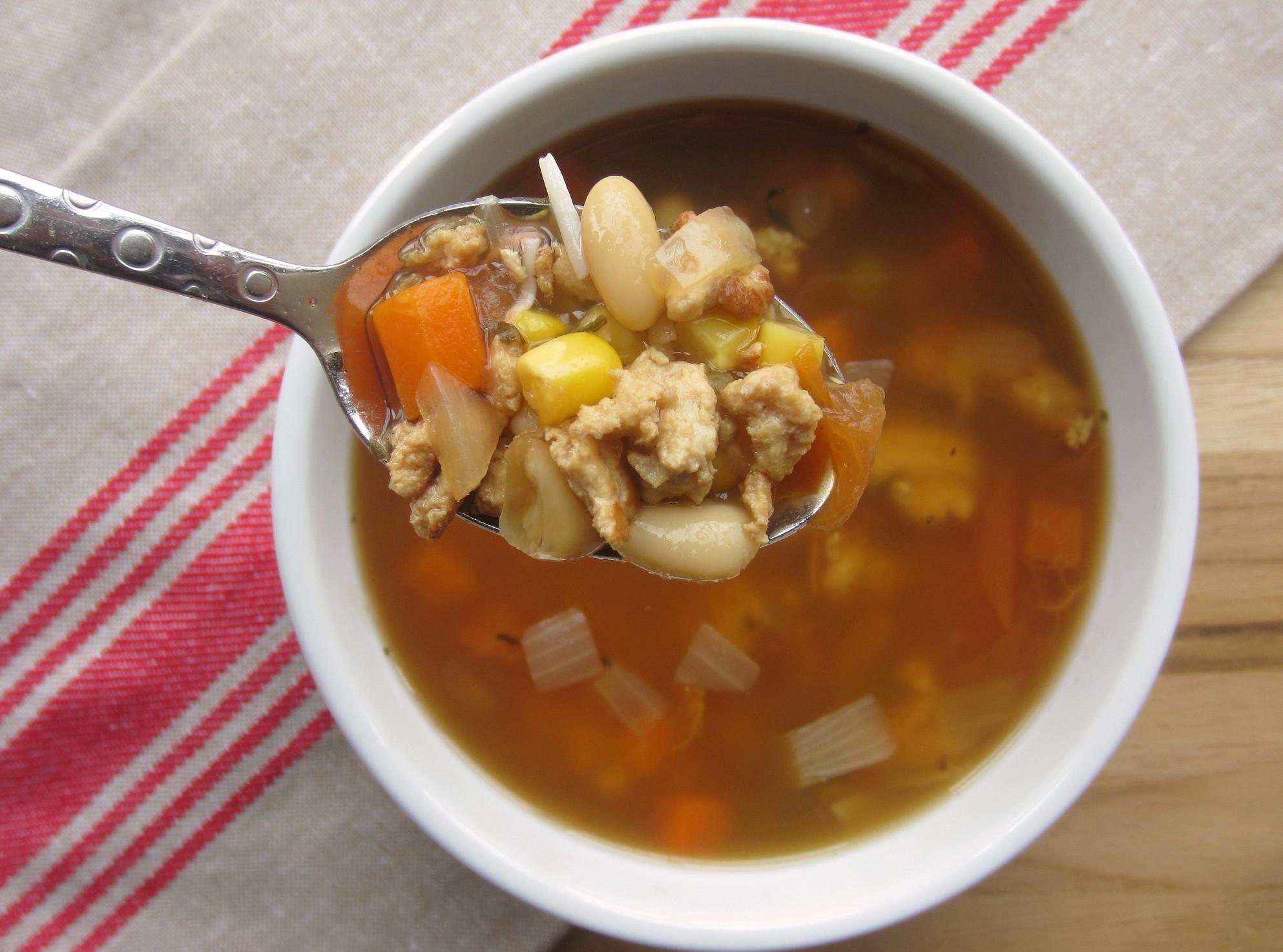 Healthy Turkey Soup  Lean Turkey Ve able Soup