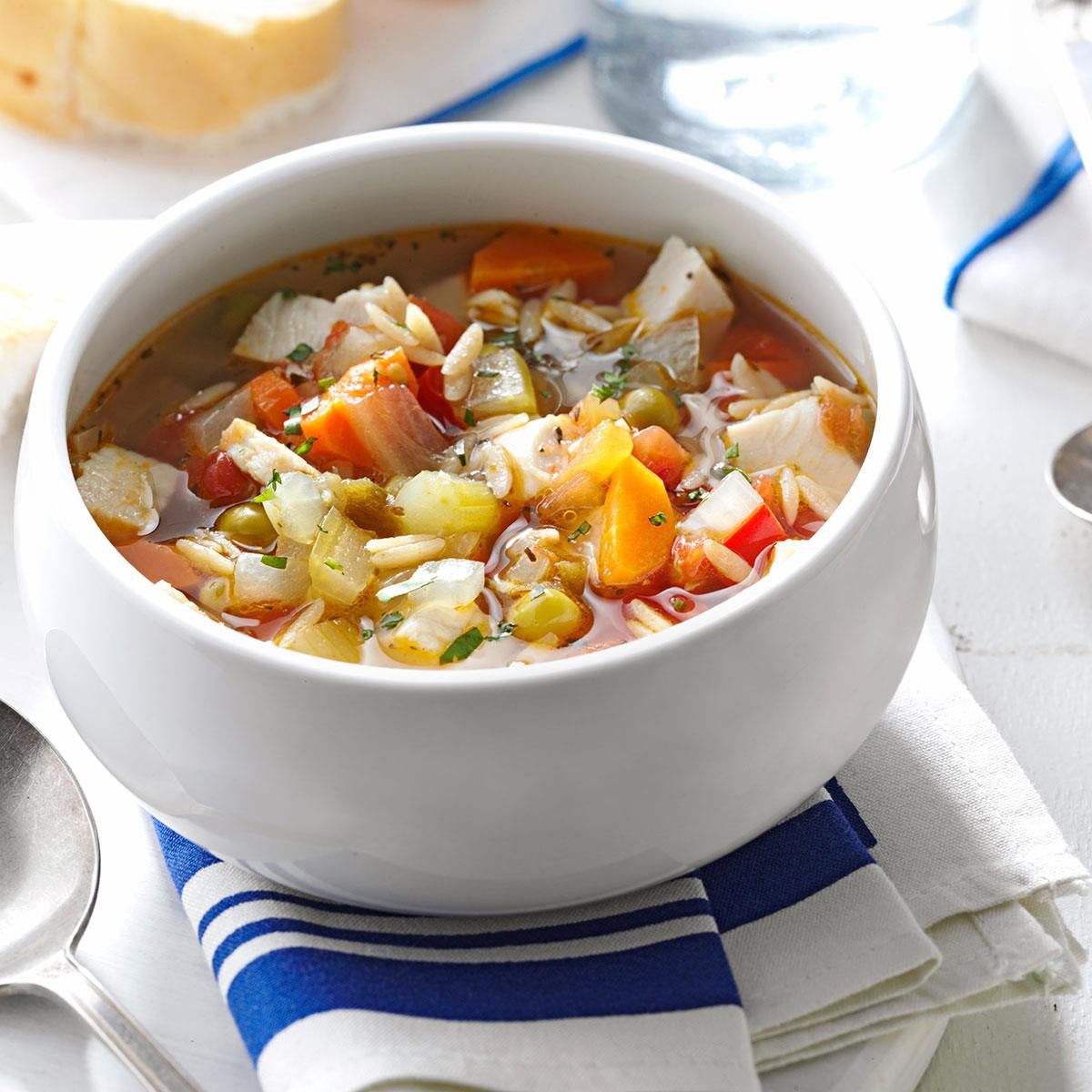 Healthy Turkey Soup  Skinny Turkey Ve able Soup Recipe