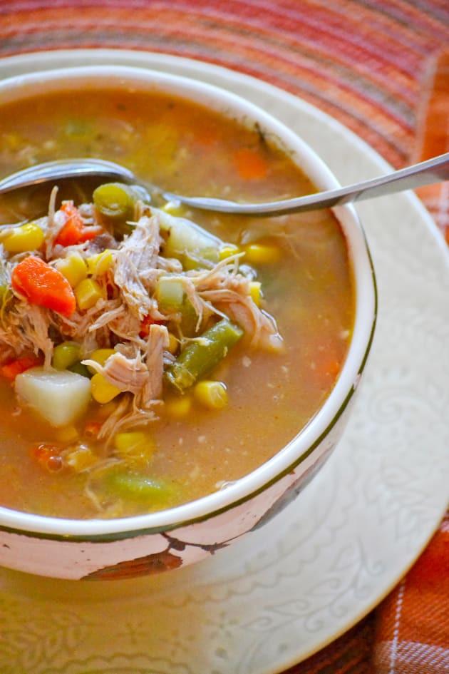 Healthy Turkey Soup  Turkey Ve able Soup Food Fanatic