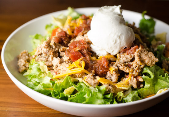 Healthy Turkey Taco Salad  Taco Salad Recipe — Daily Unadventures in Cooking