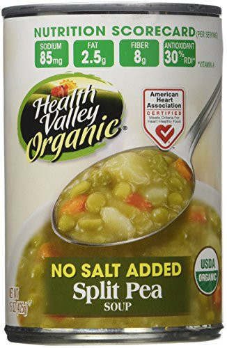 Healthy Valley Soups  Amazon Health Valley Organic No Salt Added Soup