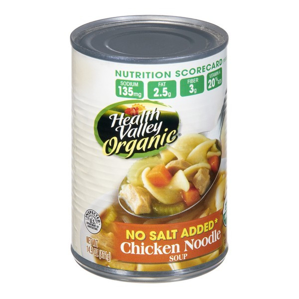 Healthy Valley Soups  Health Valley Soup Chicken Noodle No Salt Added Organic