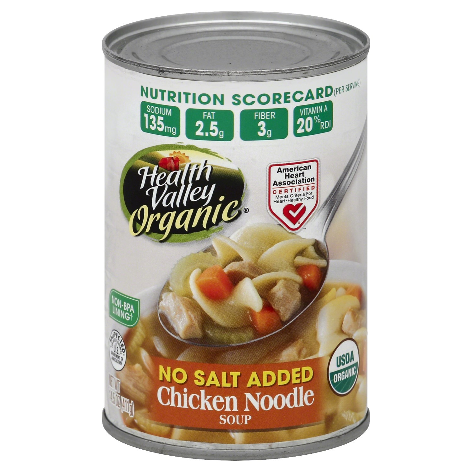 Healthy Valley Soups  Health Valley Organic Soup Chicken Noodle No Salt Added