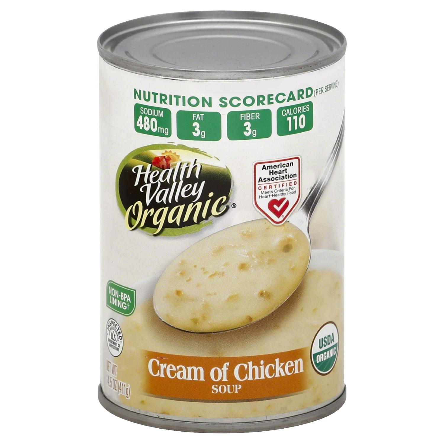 Healthy Valley Soups  Health Valley Organic Soup Cream of Chicken 14 5 Ounce