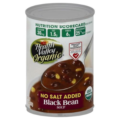 Healthy Valley Soups  Health Valley Organic Soup Black Bean No Soduium 15 Fl