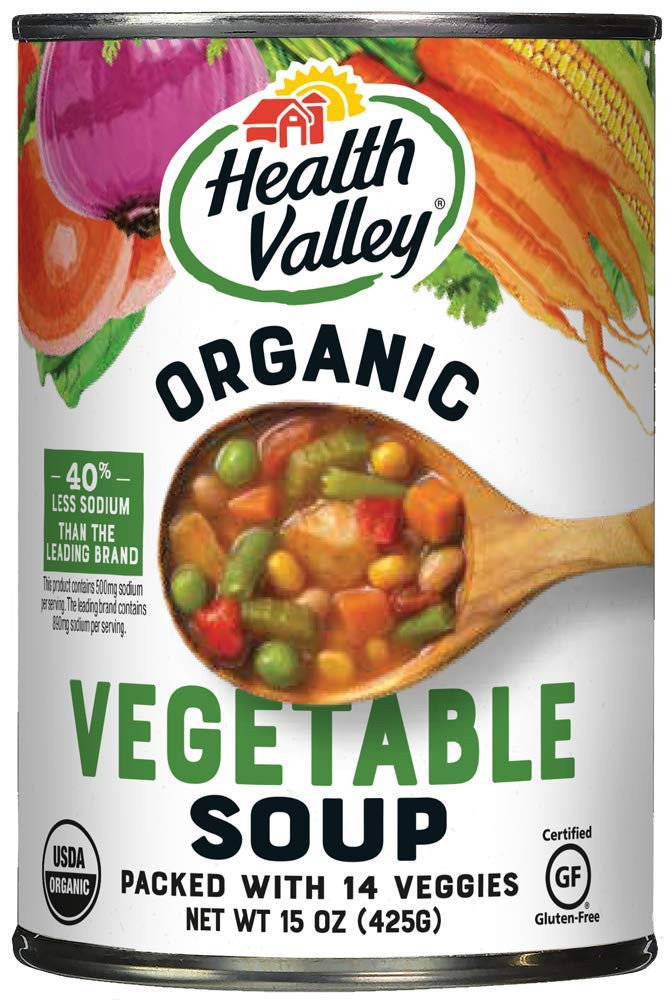 Healthy Valley Soups  Amazon Health Valley Organic Soup Chicken Noodle
