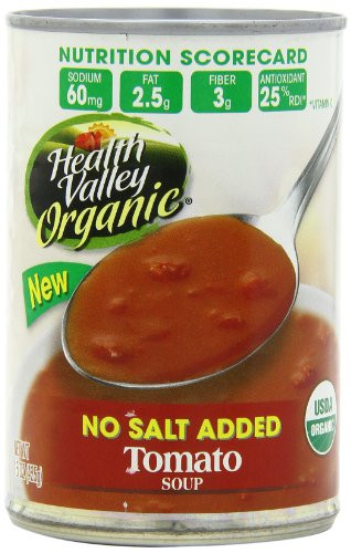 Healthy Valley Soups  Grocery Natural Sale Health Valley Tomato Soup No Salt