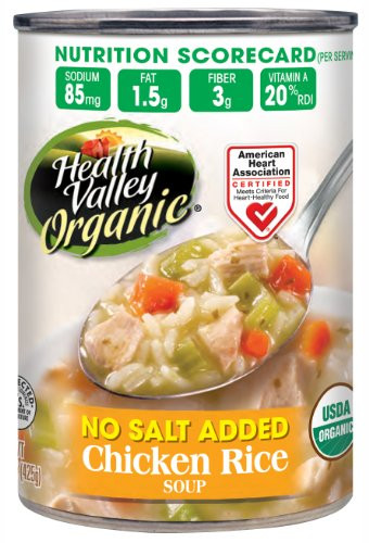 Healthy Valley Soups  Health Valley Organic No Salt Added Soup Chicken Rice
