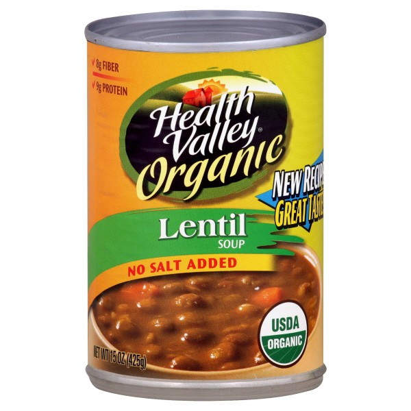 Healthy Valley Soups  Health Valley Organic Soup Lentil No Salt Added