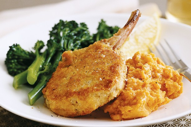 Healthy Veal Cutlet Recipes  Parmesan crumbed Veal Cutlets With Sweet Potato Mash