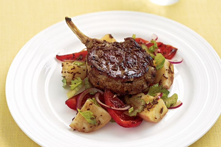 Healthy Veal Cutlet Recipes  Spiced veal cutlets with warm potato salad