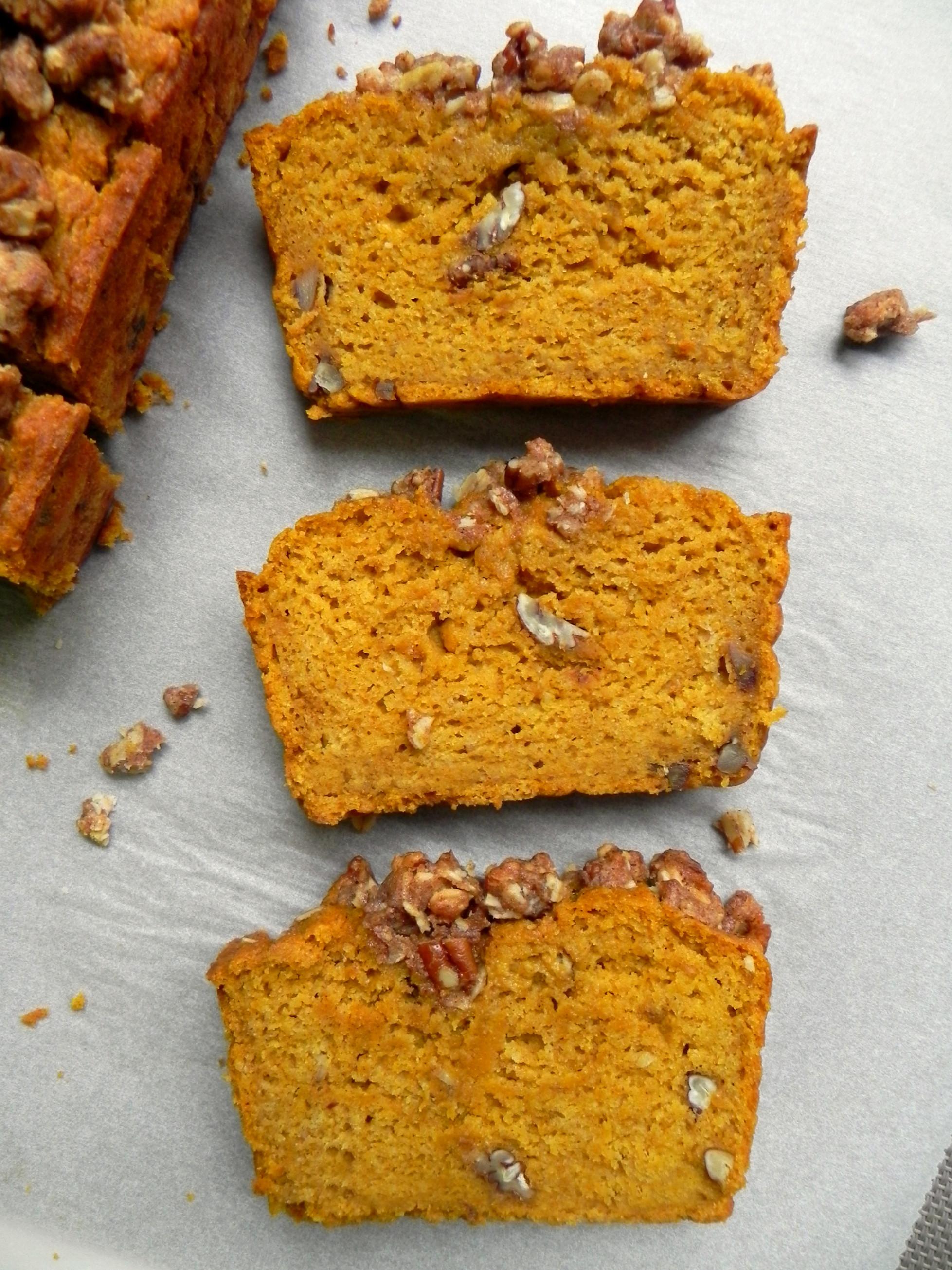 Healthy Vegan Bread  Healthy Pumpkin Bread with Maple Pecan Crumble Vegan