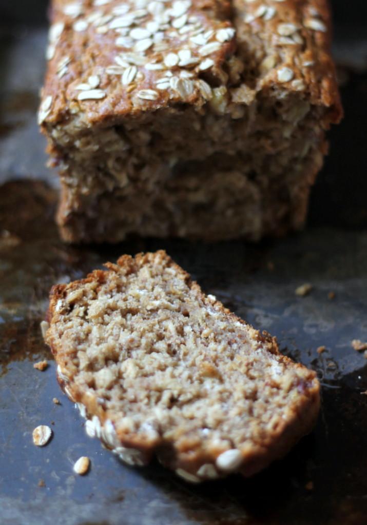 Healthy Vegan Bread  Whole Wheat Oatmeal Applesauce Banana Bread