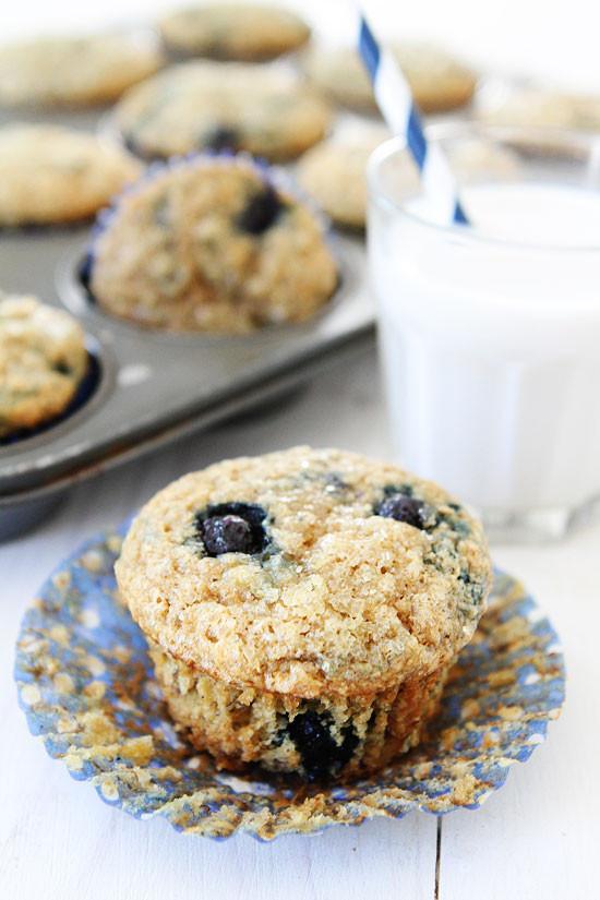 Healthy Vegan Breakfast Muffins  Banana Blueberry Muffins Vegan