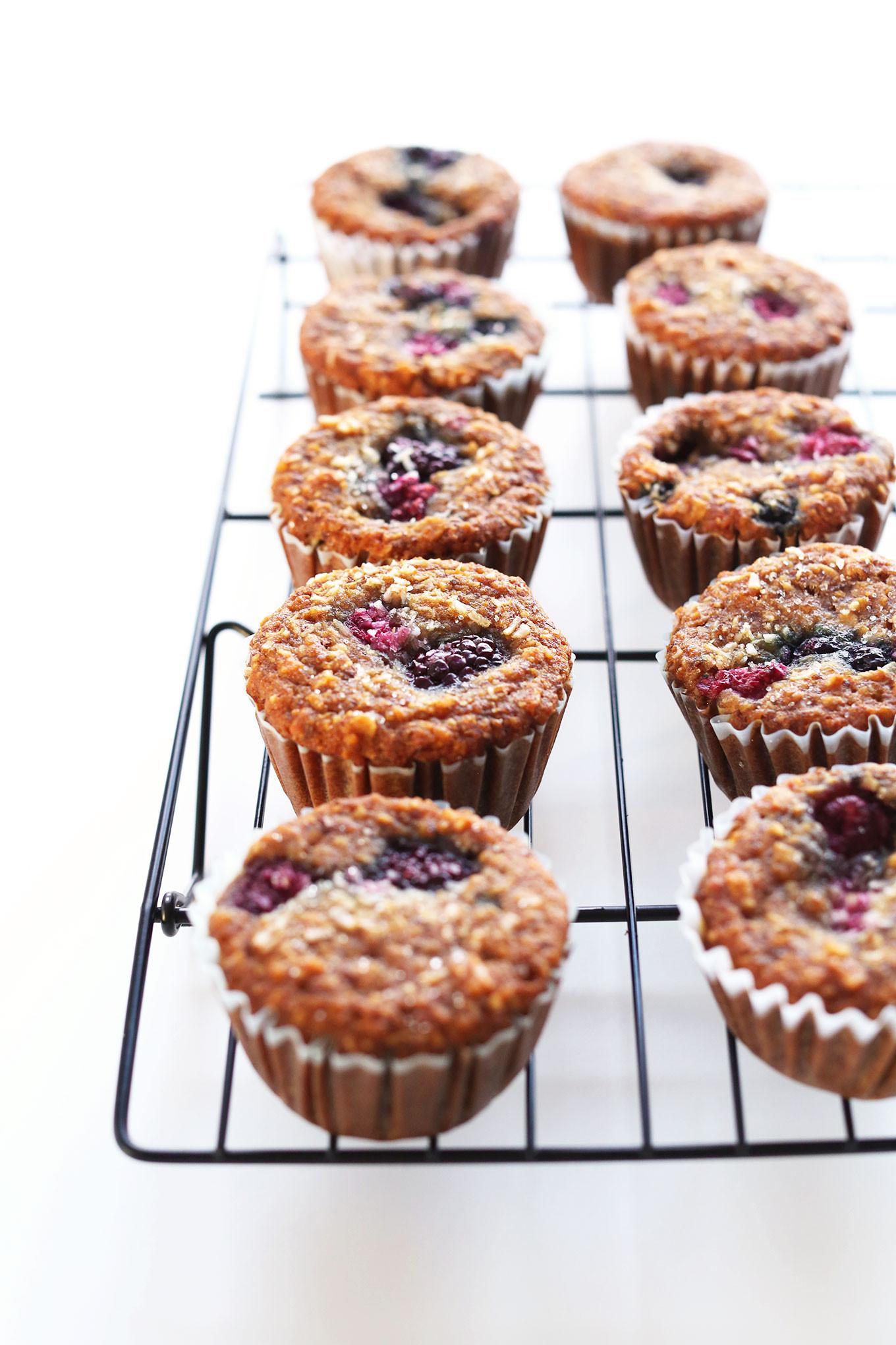 Healthy Vegan Breakfast Muffins  Coconut Berry Muffins