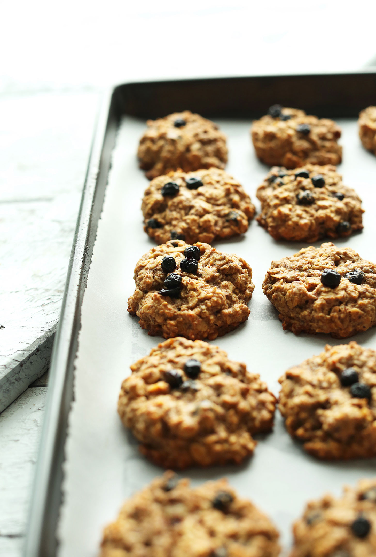 Healthy Vegan Breakfast Muffins  Blueberry Muffin Breakfast Cookies V GF