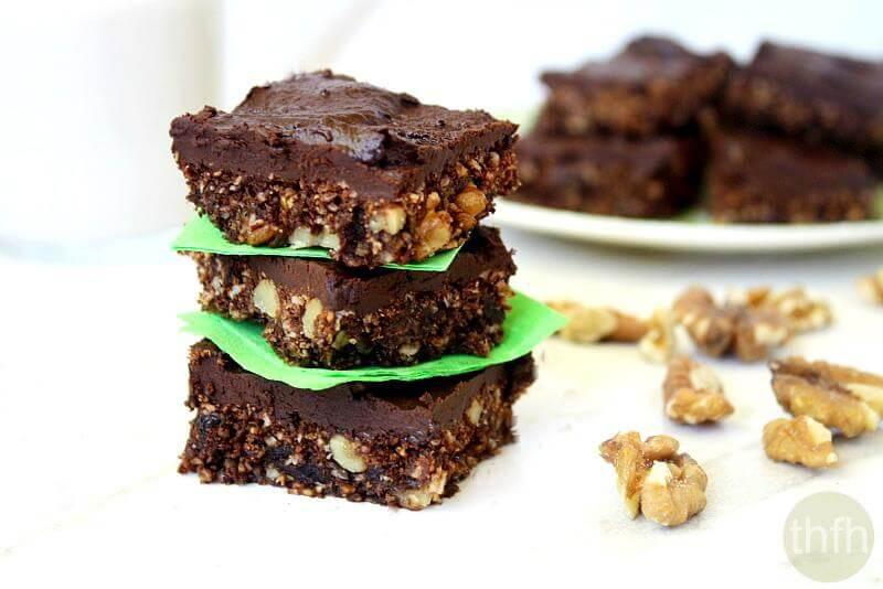 Healthy Vegan Brownies  Gluten Free Vegan Walnut and Oat Brownies