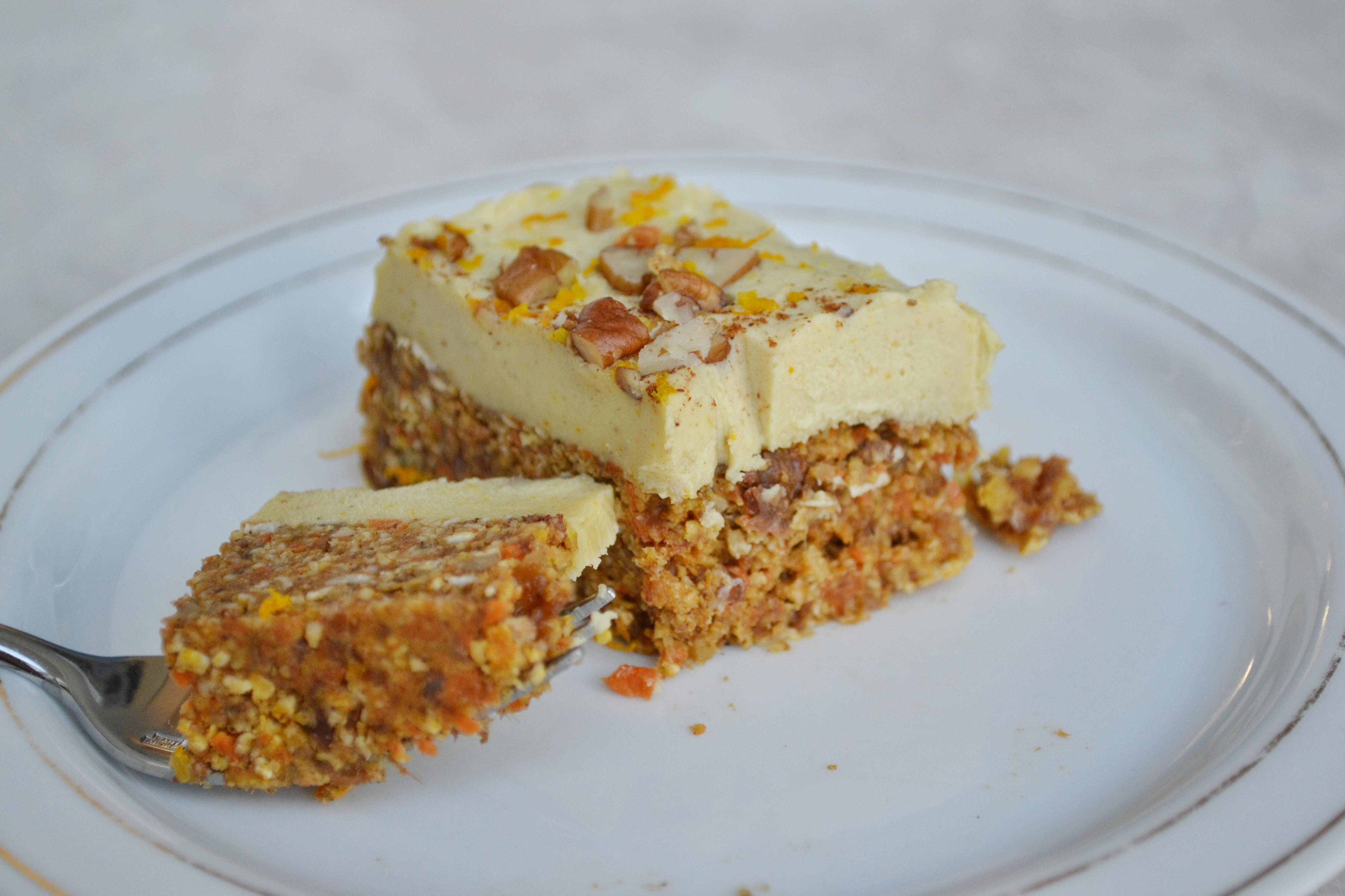 Healthy Vegan Carrot Cake  Healthy Carrot Cake HealthyJon