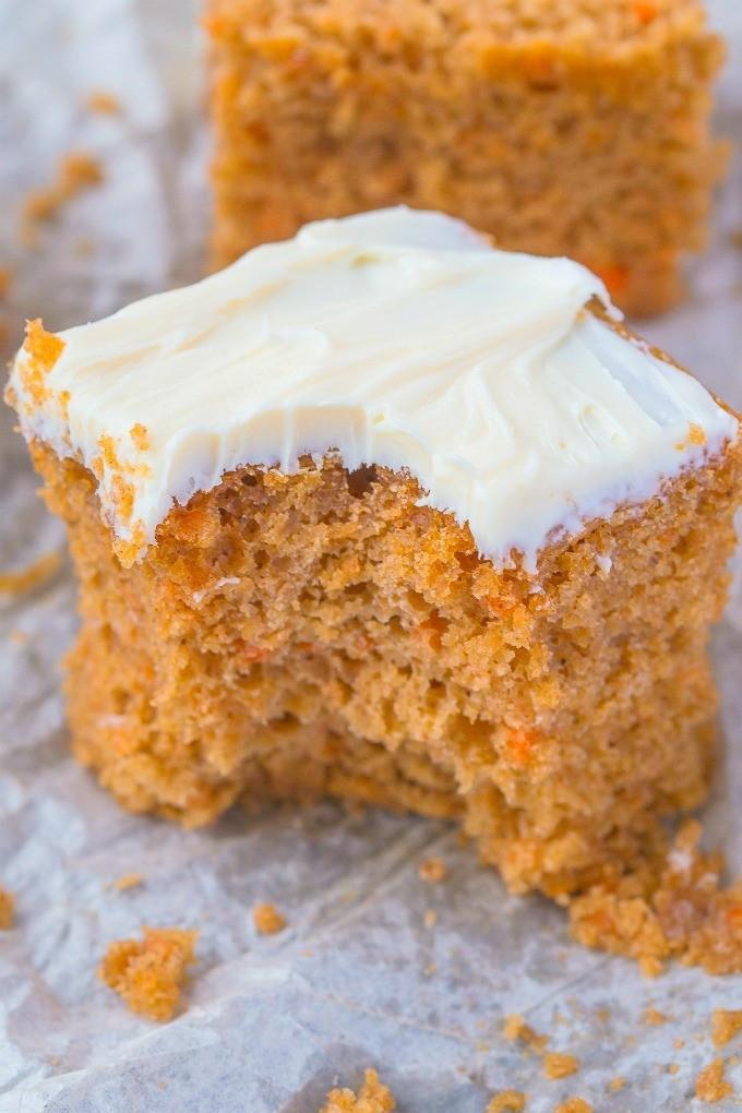 Healthy Vegan Carrot Cake  Healthy Flourless Carrot Breakfast Cake