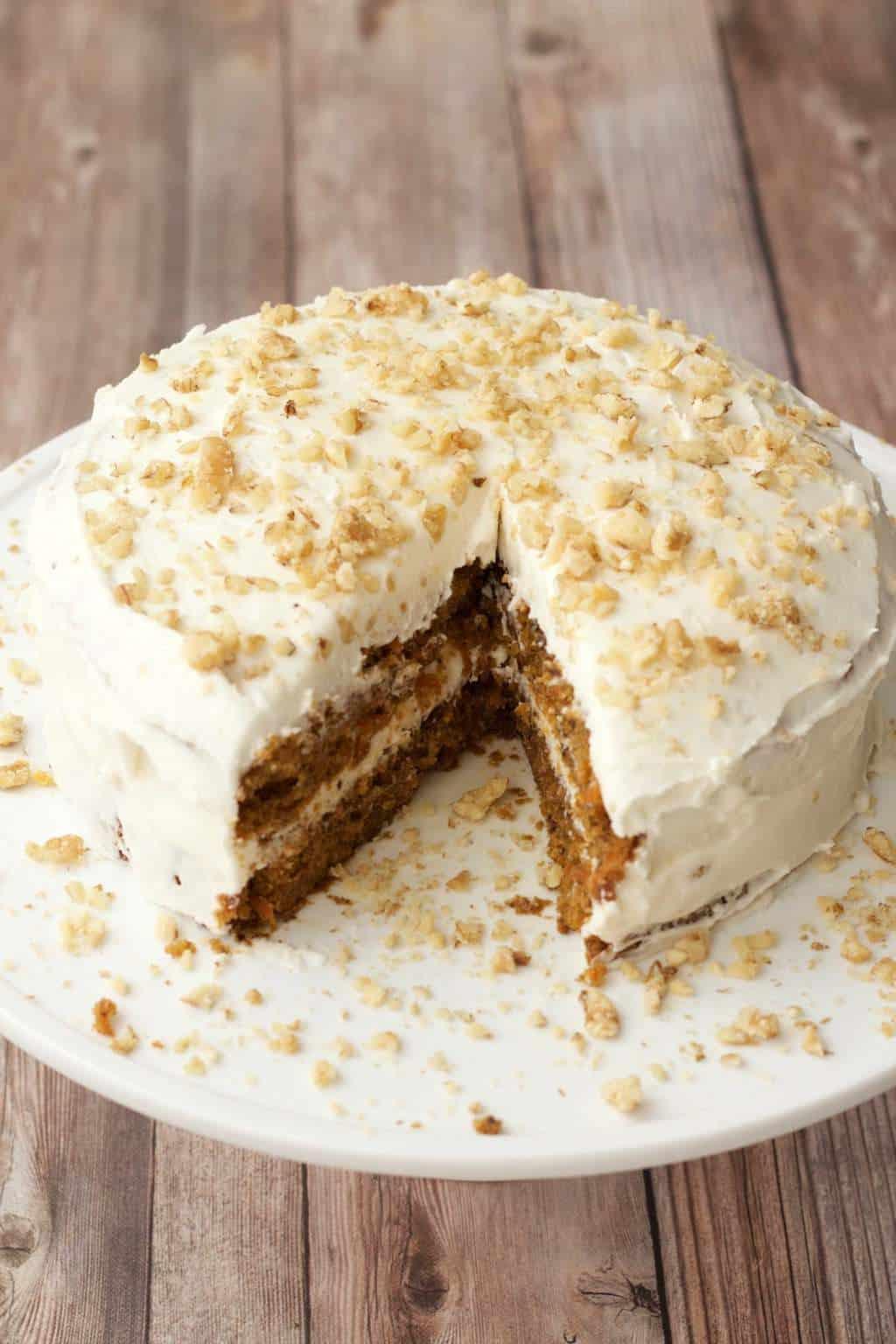 Healthy Vegan Carrot Cake  Moist Vegan Carrot Cake with Lemon Buttercream Frosting