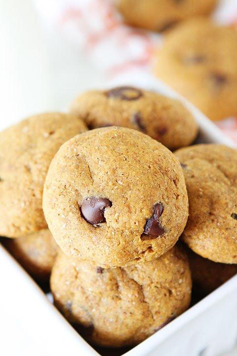 Healthy Vegan Chocolate Chip Cookies  Healthy Pumpkin Chocolate Chip Cookies
