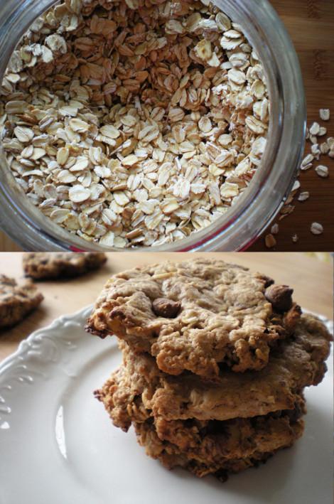 Healthy Vegan Chocolate Chip Cookies  Healthy Vegan Oatmeal Chocolate Chip Cookies