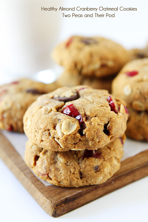 Healthy Vegan Cookie Recipes  Healthy Almond Cranberry Oatmeal Cookies