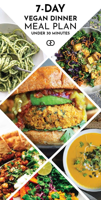 Healthy Vegan Dinners  7 Day Easy Vegan Dinner Meal Plan Gathering Dreams