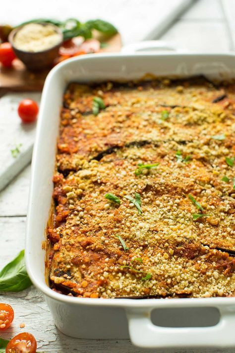 Healthy Vegan Eggplant Recipes  Best 25 Healthy Eggplant Lasagna ideas on Pinterest