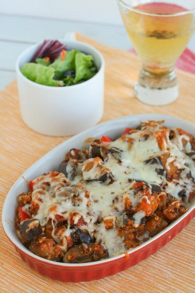 Healthy Vegan Eggplant Recipes  Eggplant Parmesan Quinoa Casserole See Brooke Cook