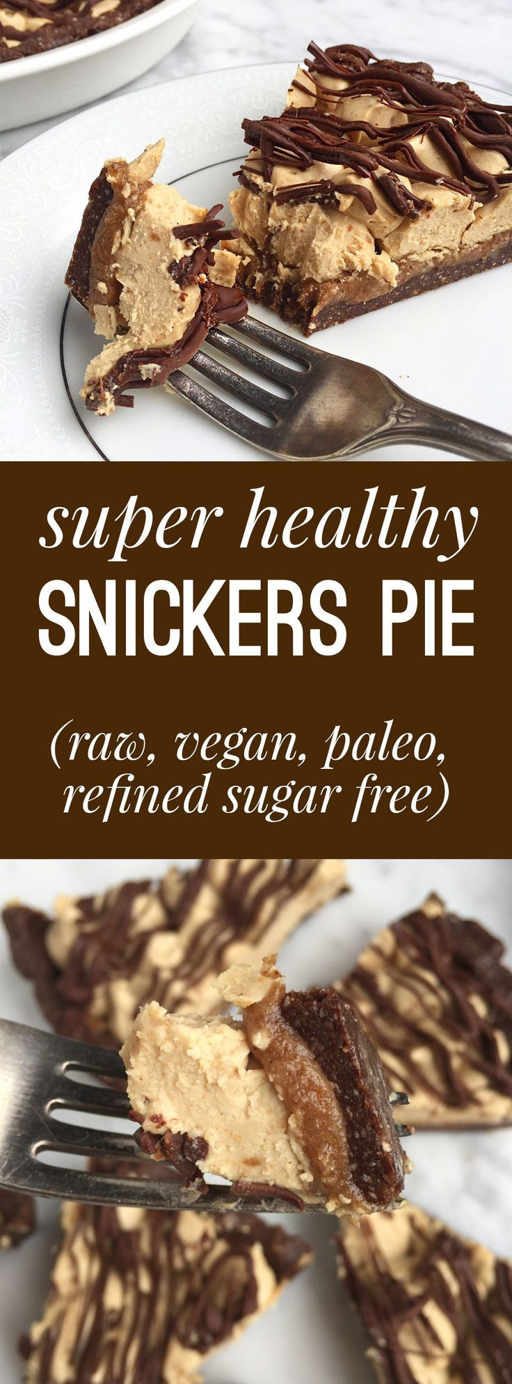 Healthy Vegan Gluten Free Recipes  Healthy Snickers Pie Raw Vegan Gluten Grain Free