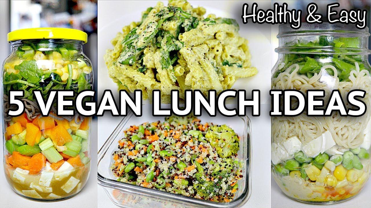 Healthy Vegan Lunch Recipes  EASY HEALTHY VEGAN LUNCH RECIPES BACK TO SCHOOL WORK