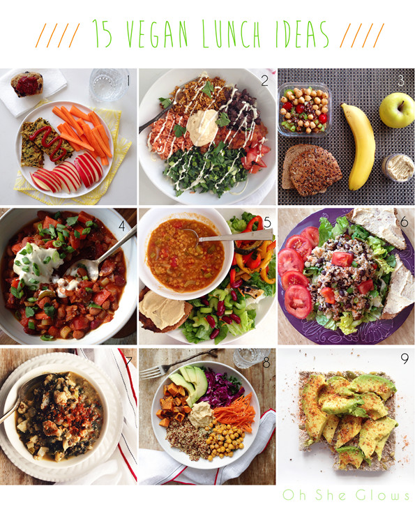 Healthy Vegan Lunches  15 Vegan Lunch Ideas — Oh She Glows
