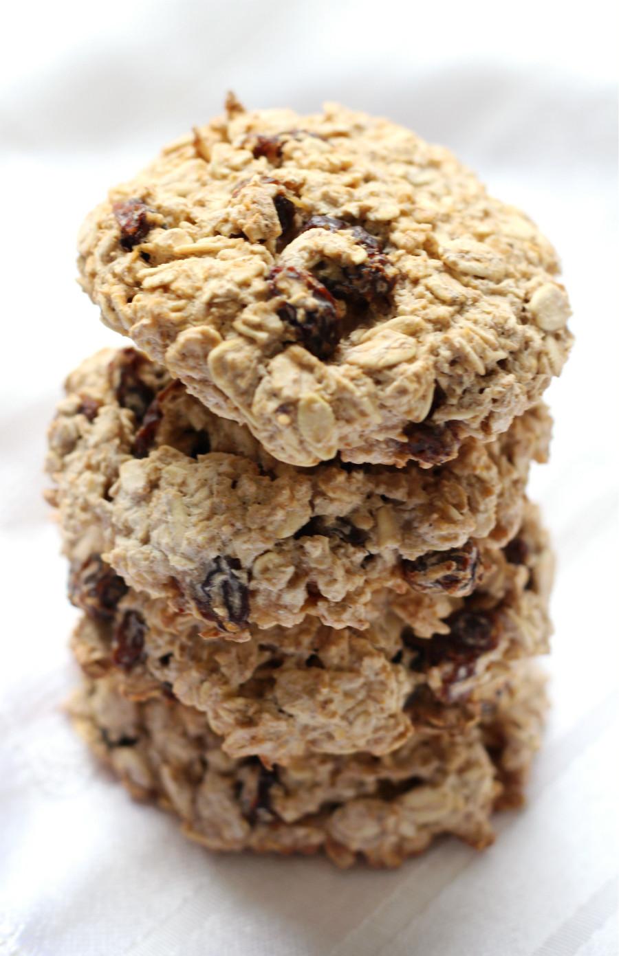 Healthy Vegan Oatmeal Raisin Cookies  Chewy Gluten Free Oatmeal Raisin Cookies Allergy Free Vegan