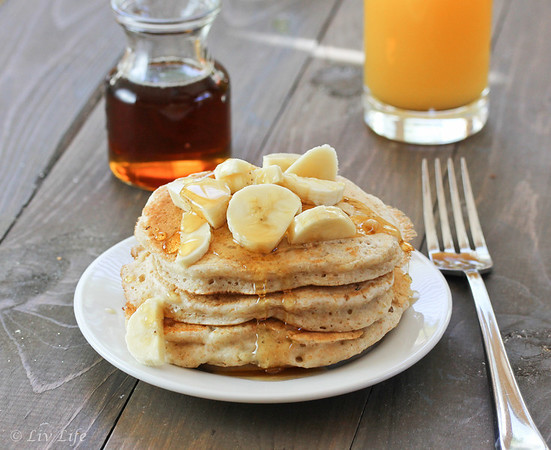 Healthy Vegan Pancakes  Liv Life Heart Healthy Fluffy Vegan Pancakes
