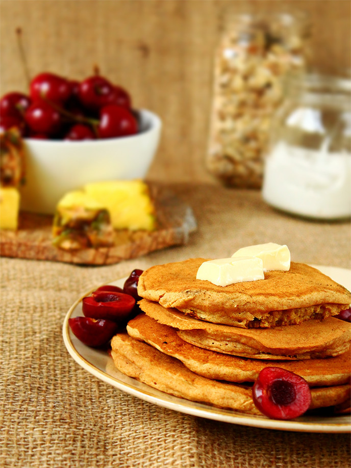 Healthy Vegan Pancakes  The Best Healthy Vegan Pancakes I LOVE VEGAN